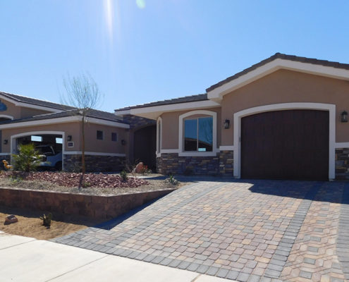 Custom Home Mesquite Nv Front-Elevation