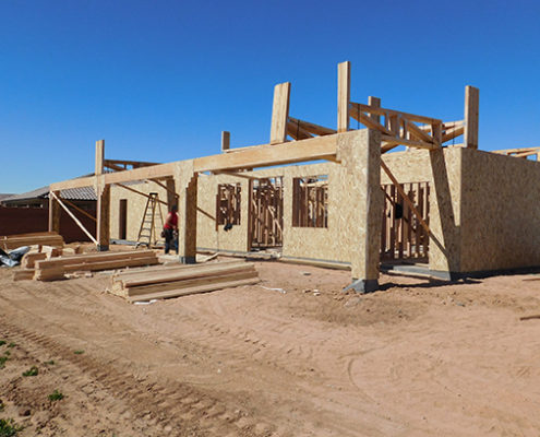 exterior elevation wood framing mesquite nevada