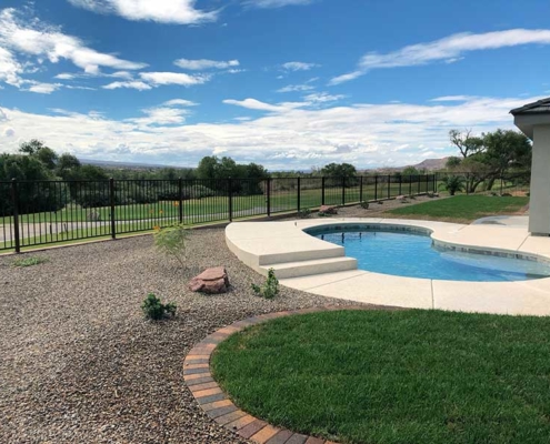 Custom Pool and Backyard in Mesquite NV